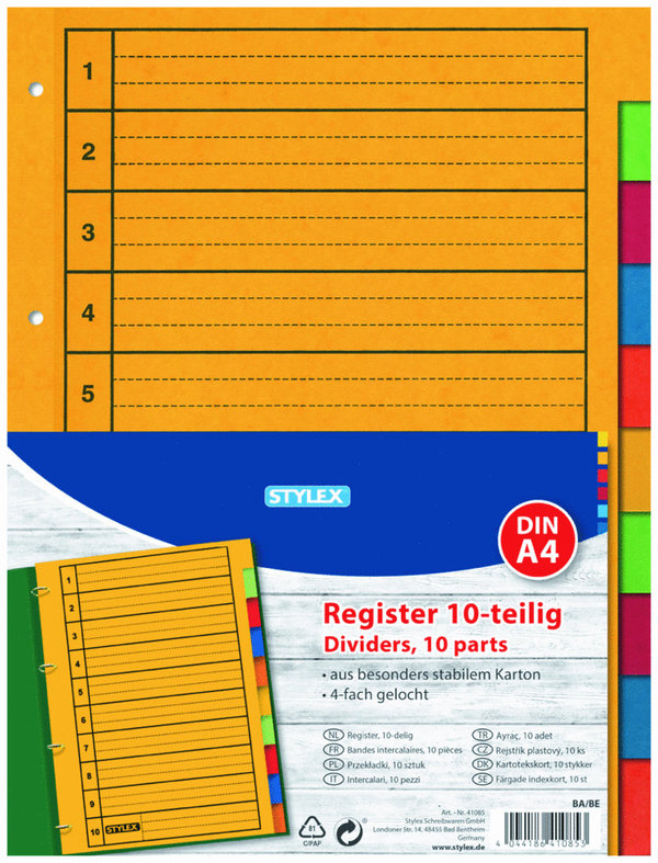 Register, 10-teilig